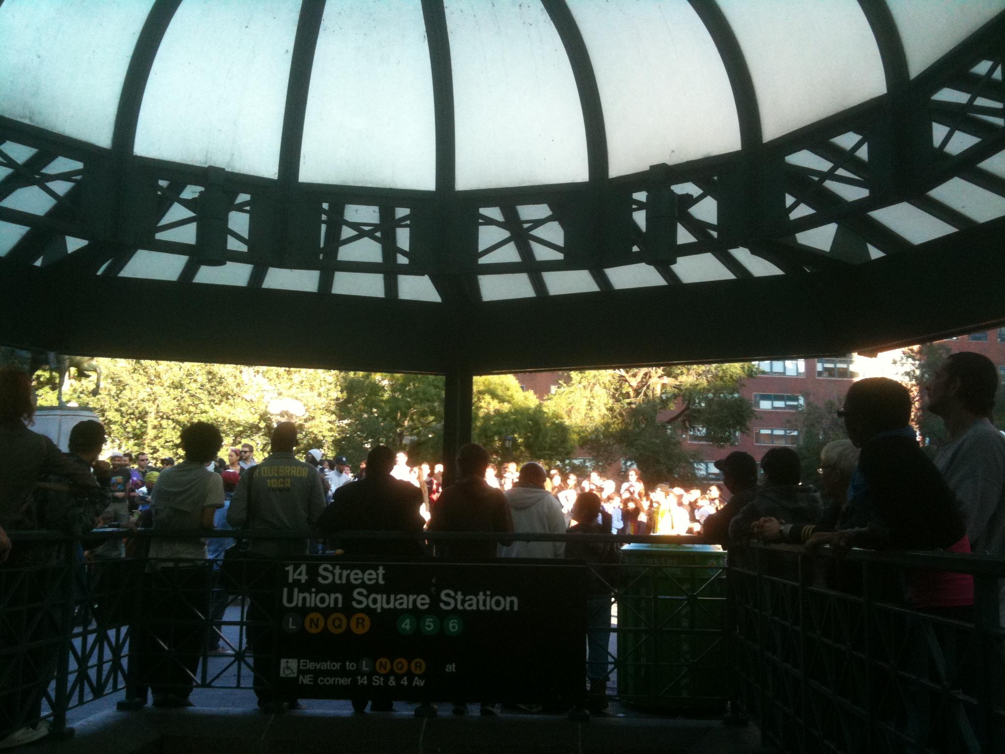 image of union square on subway