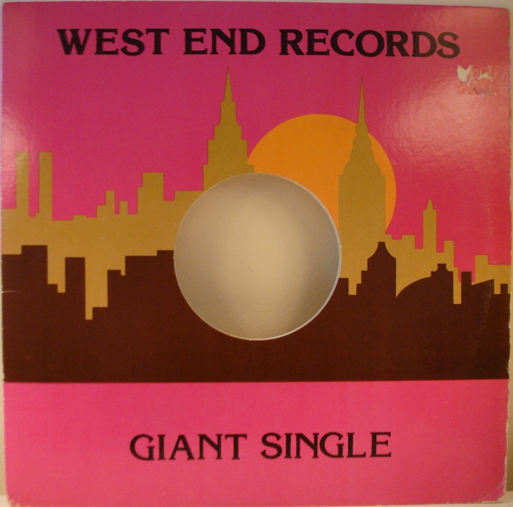 End Records Label West End Records 12 Sleeve